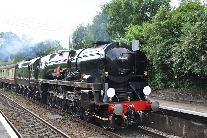 12:28 Victoria passing through Betchworth <br /> 35028 Clan Line<br /> 06th July 2012