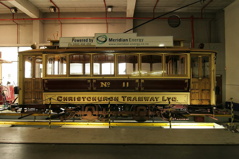 One of the oldest restored trolleys, No. 11.