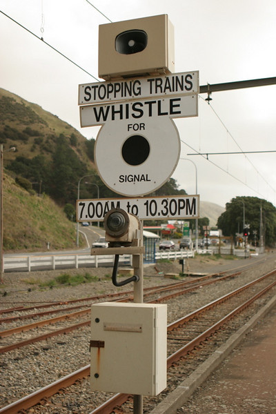 A rather unusual way of getting a signal in Paekakariki, on the commuter line north of Wellington, NI.
