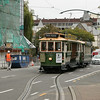 Dodging traffic is never a problem, at least if you ride the trolley!