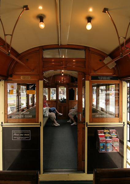 The interior of one of the trolleys.