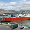 A Ro-Ro ship in Lyttelton Harbor, Christchurch, SI.