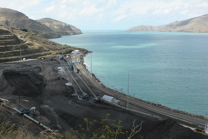 Lyttelton coal terminal, the destination of the coal trains from the West Coast.