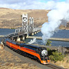 SP 4449 crossing Lake Celilo near The Dalles Oregon.