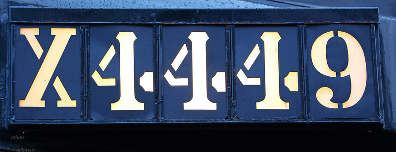 X4449, road number for Extra 4449.