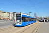 Tram 2017 on service 51 to Biezanow Nowy departs Pl Boh Getta.