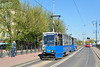 Tram 784 in Most Pilsudskiego Legionow with service 10 to Lagiewniki.