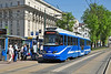 Krakow Tram 3014 type EU8N, imported from Vienna & fully refurbished, is seen at Starowisina, on service 50 to Kurdwanow 28 April.