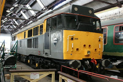 Sitting out the rest of the Diesel Gala, 31206 is pictured in the shed at Tunbrdge Wells West 2/8/14