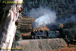 Mallet 2-4-6-0T No. E205 is climbing round the loops and curves above Carrazedo station with the 10:21 train from Régua to Vila Real and Chaves. It has collected a water-carrier wagon from Carrazedo which it took to the top of the many curves here before stopping and detaching the wagon to run back to Carrazedo by gravity. Thursday 5th November 1970. Slide No. 5797.