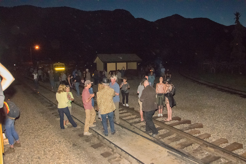 Taking a break at Rockwood while the locomotive turns around for the return trip to Durango.