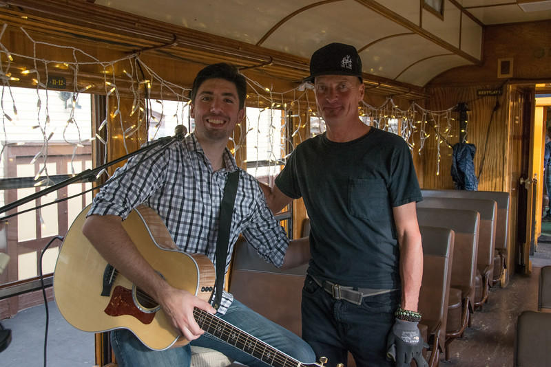 Brian Keith Wallen and the train sound guy Kelly Rogers