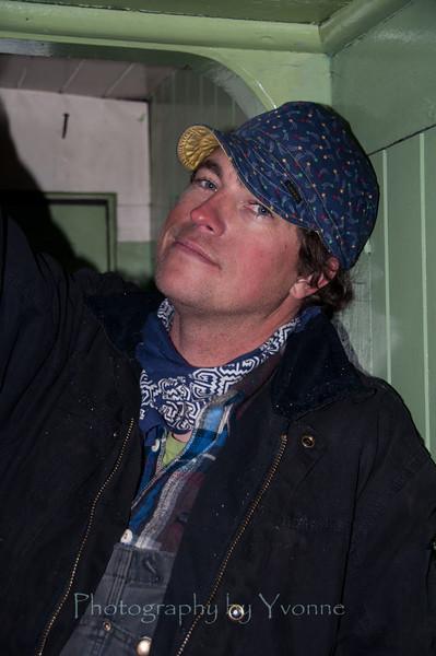 MOW's Erik in caboose.