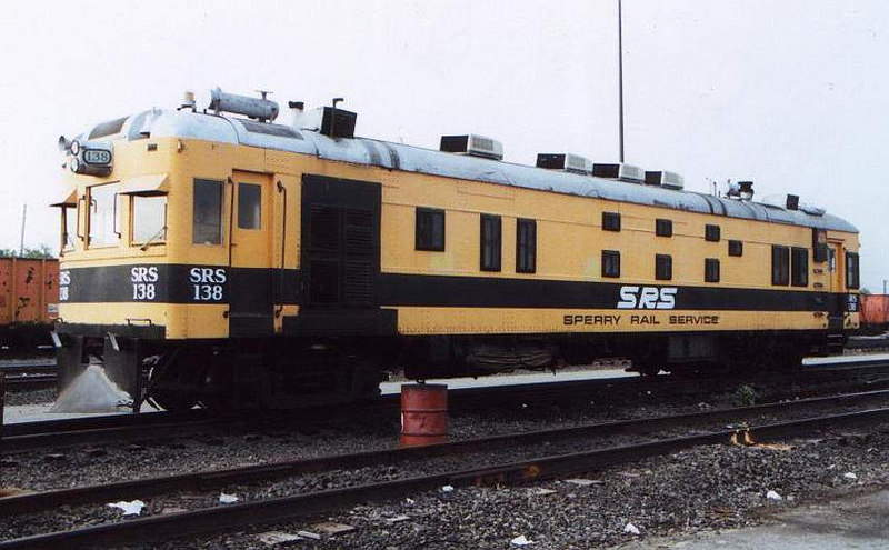 SRS 138 rests in Providence MOW base.