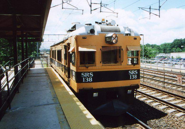SRS 138 waits for traffic at Attleboro.