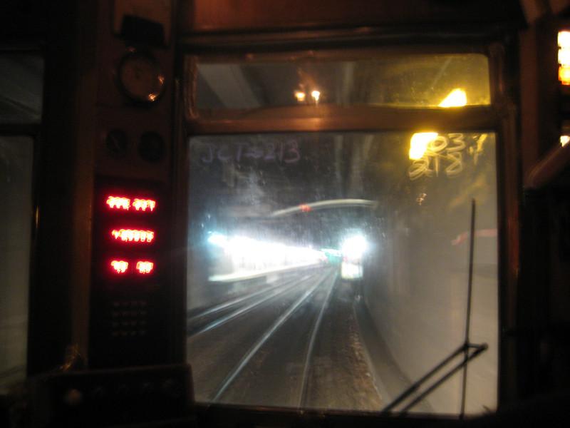 Entering Back Bay station