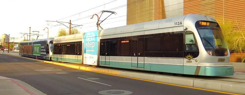 Inbound, passing the Phoenix Railway Museum.