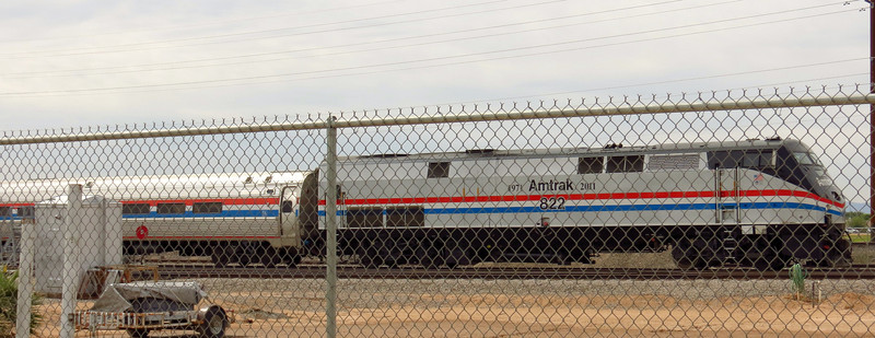 Amtrak's exhibit train was lyaing over at the museum before heading to its next public appearance.