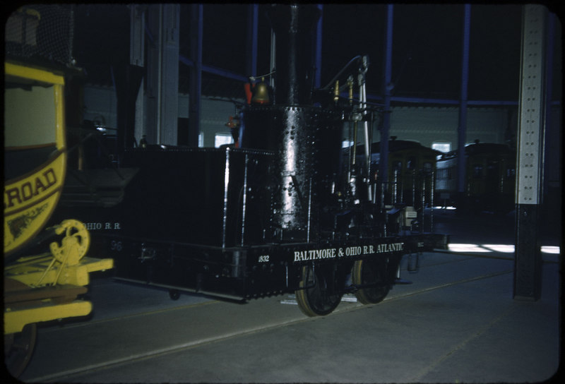 1953 photo<br /> B&O Railroad Museum<br /> 0-4-0 Atlantic<br /> Built 1832