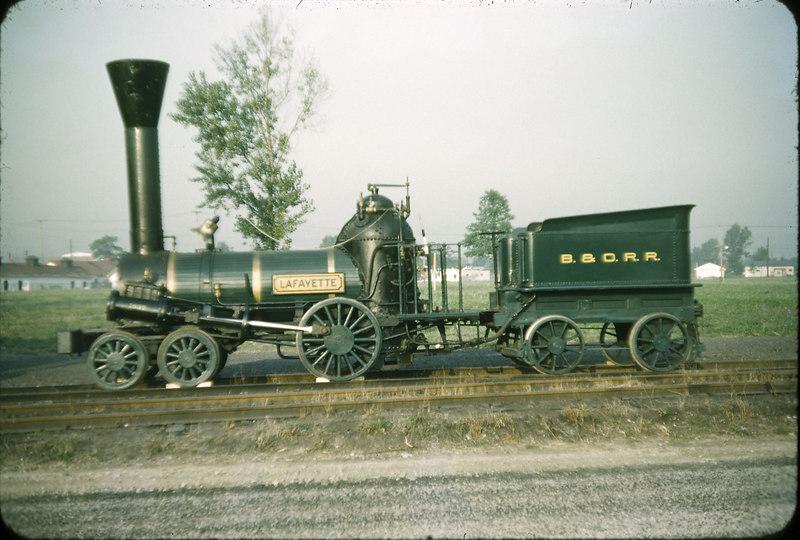1953 photo<br /> Baltimore & Ohio Railroad<br /> Lafayette (replica)