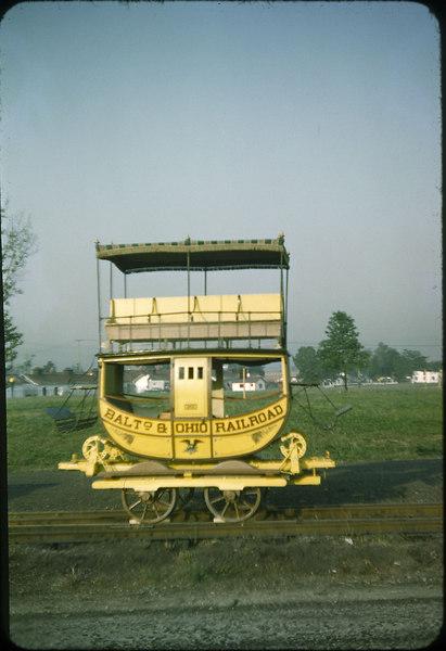 1953 photo<br /> Baltimore & Ohio Railroad<br /> Emlay coach (replica)