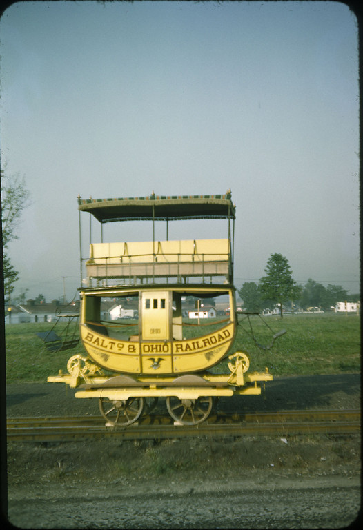 1953 photo<br /> Baltimore & Ohio Railroad<br /> Emlay coach (replica)