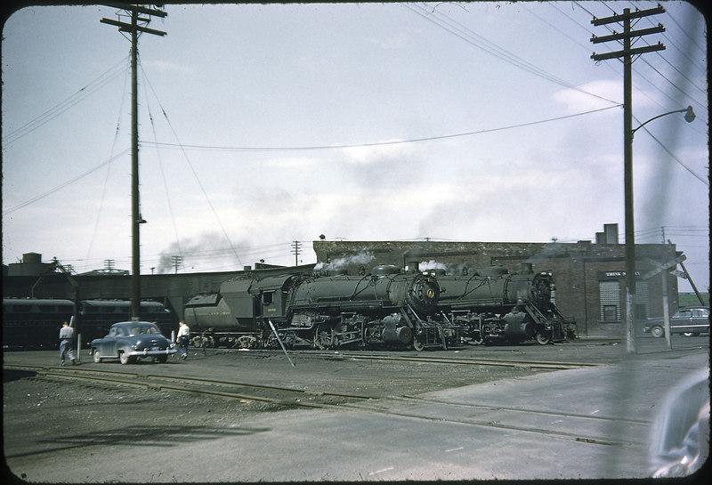 1955 photo<br /> Baltimore & Ohio Railroad<br /> Toledo, Ohio Engine Terminal