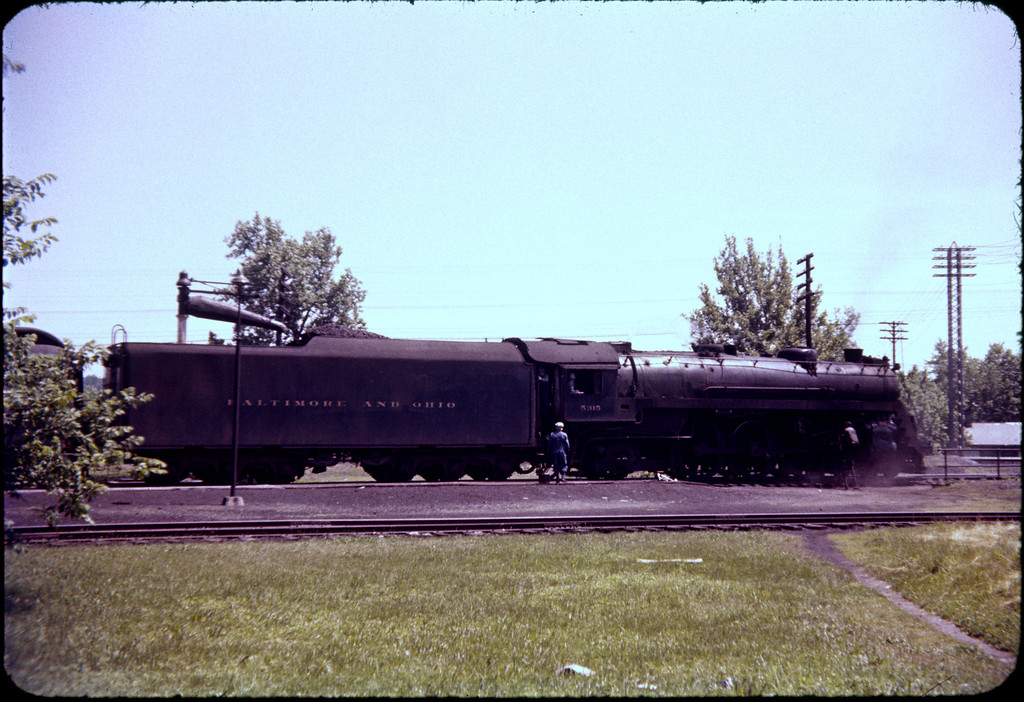 1956 photo<br /> Baltimore & Ohio Railroad<br /> Class P-7 4-6-2