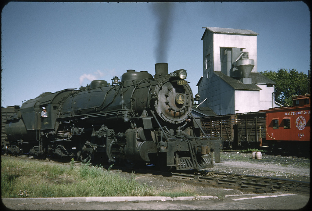 1952 photo<br /> Baltimore & Ohio Railroad<br /> Washington Courthouse, OH<br /> #4455 Class Q4B<br /> Built by Baldwin Locomotive Works in 1923