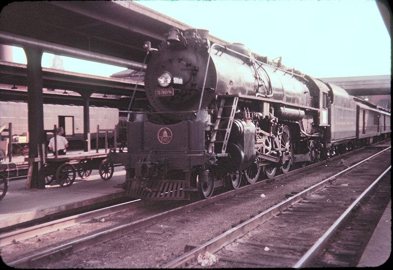 1956 photo<br /> Columbus Ohio<br /> Baltimore & Ohio Railroad<br /> Last run Cincinnati to Pittsburgh<br /> 4-6-2