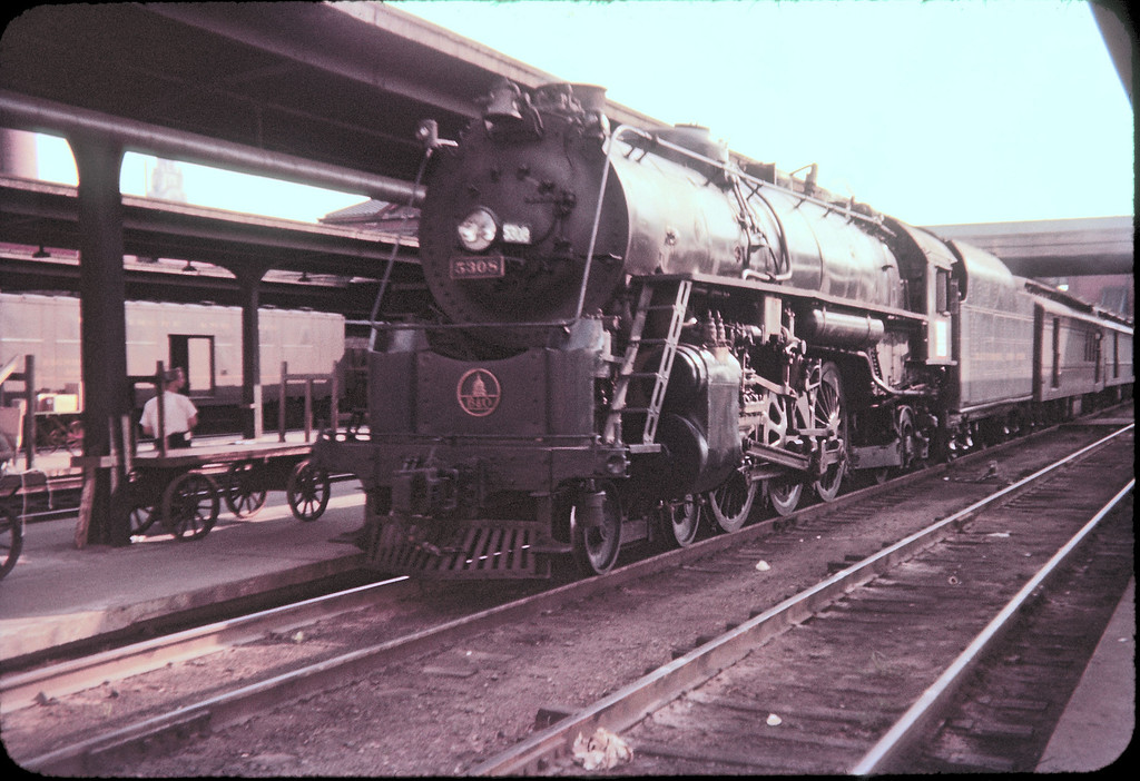 1956 photo<br /> Columbus Ohio<br /> Baltimore & Ohio Railroad<br /> Last run Cincinnati to Pittsburgh<br /> 4-6-2