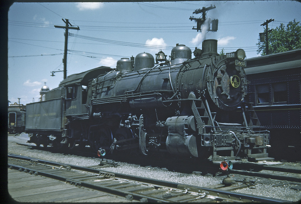 1953 photo<br /> Baltimore & Ohio Railroad<br /> #1031 Class L-1<br /> Built by Alco in 1904