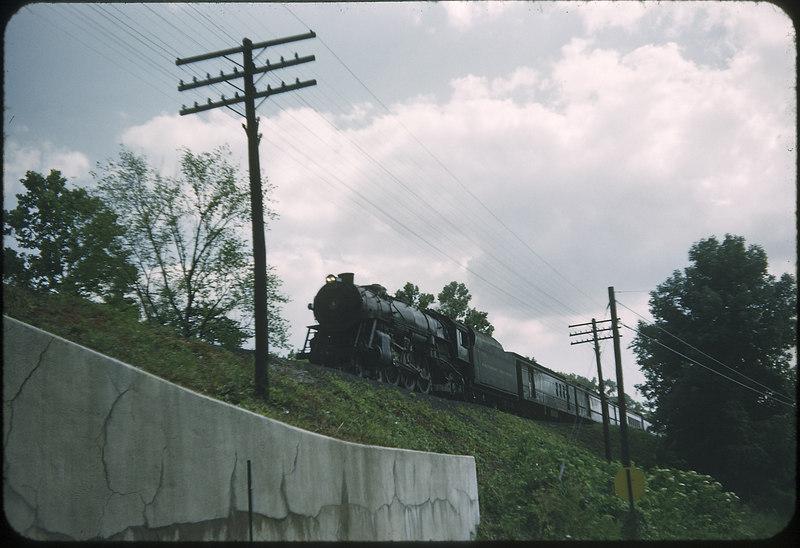 1954 photo<br /> Baltimore & Ohio Railroad<br /> State Route 62-3<br /> Class P-7 4-6-2