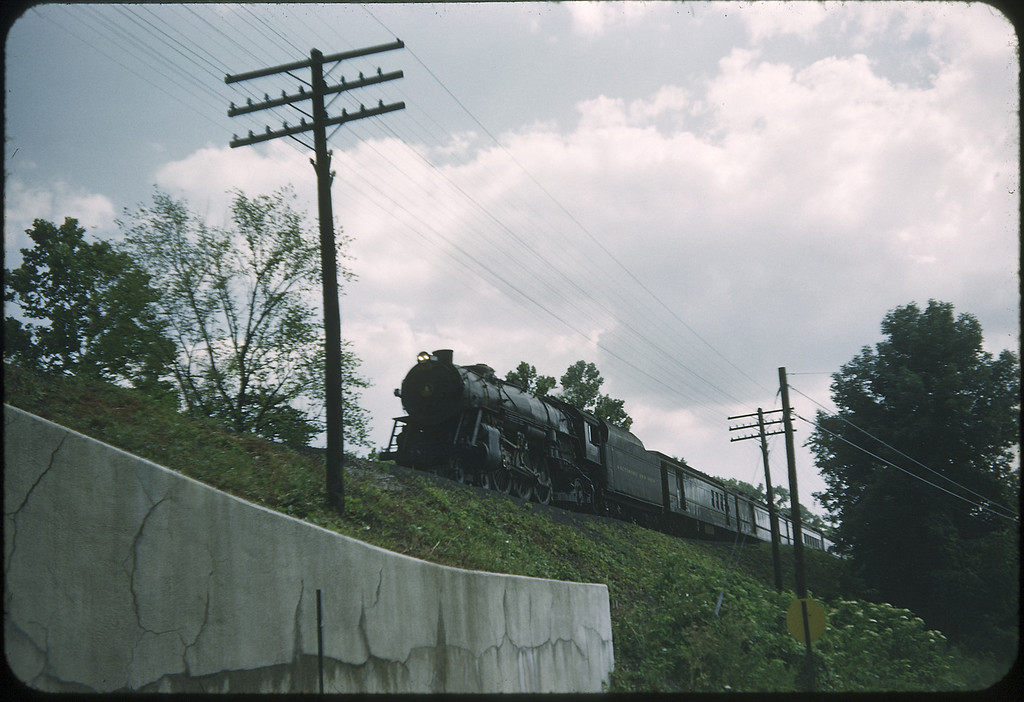 1954 photo<br /> Baltimore & Ohio Railroad<br /> State Route 62-3<br /> Class P-7 4-6-2