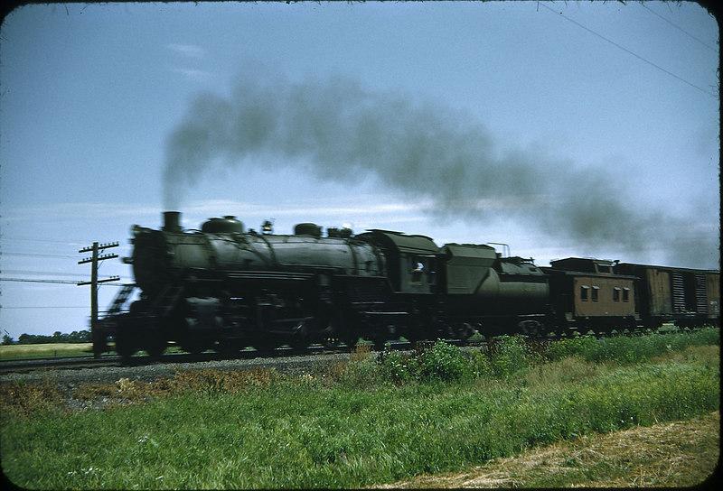 1953 photo<br /> Baltimore & Ohio Railroad<br /> Class Q-4 2-8-2 #4446 Baldwin built 1918