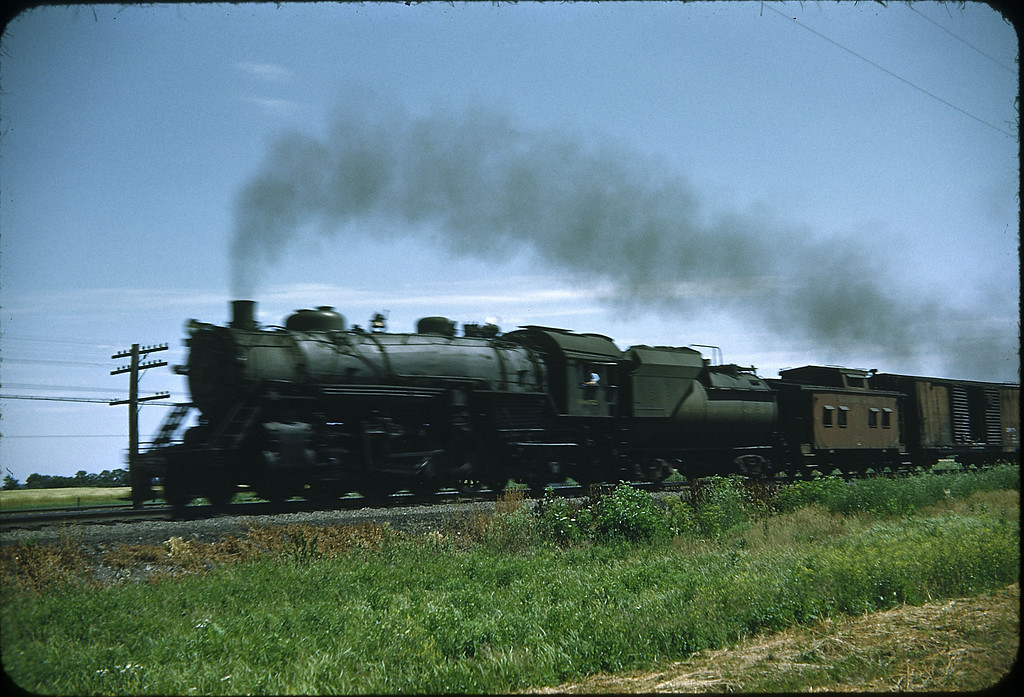 1953 photo<br /> Baltimore & Ohio Railroad<br /> Class Q-4 2-8-2 #4446 Baldwin built 1918