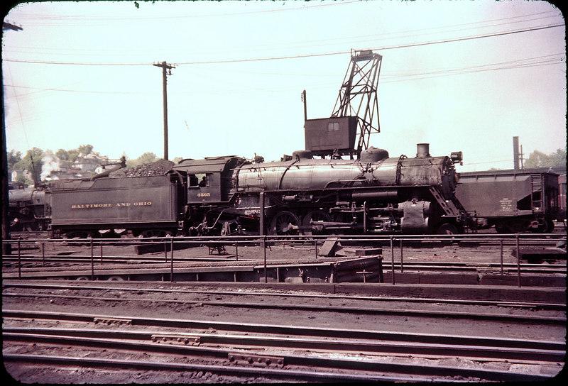 1956 photo<br /> Baltimore & Ohio Railroad<br /> Class Q-3 #4565 USRA 2-8-2 Built 1918