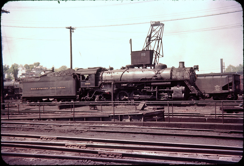 1956 photo<br /> Baltimore & Ohio Railroad<br /> Class Q-3 #4565 USRA 2-8-2 Built 1918