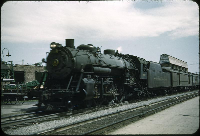 1953 photo<br /> Baltimore & Ohio Railroad<br /> Lima, Ohio<br /> Class P5A <br /> Built 1919 Baldwin Locomotive Works
