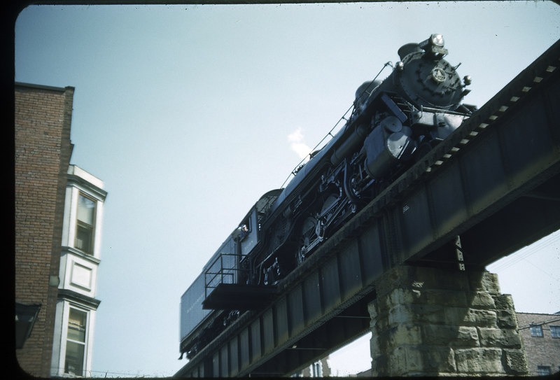 1955 photo<br /> Baltimore & Ohio Railroad<br /> #5048 Class P-1D<br /> Built by Baldwin Locomotive Works in 1912