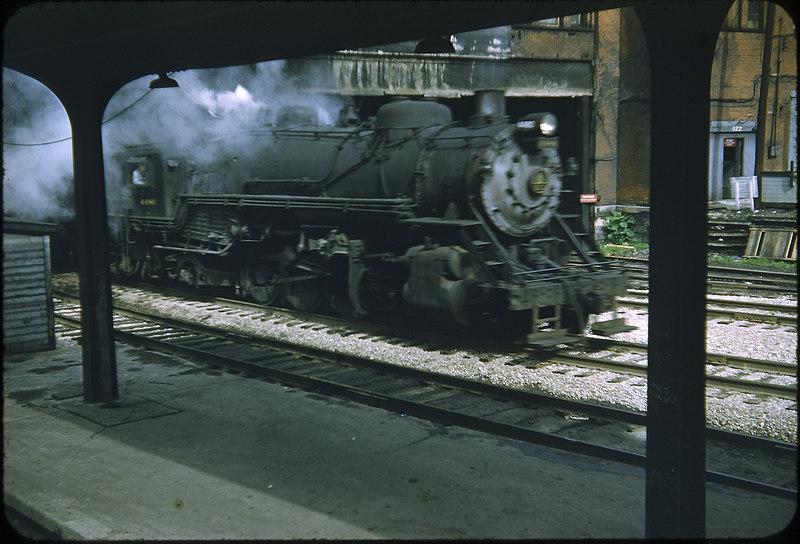 1955 photo<br /> Baltimore & Ohio Railroad<br /> 2-8-2