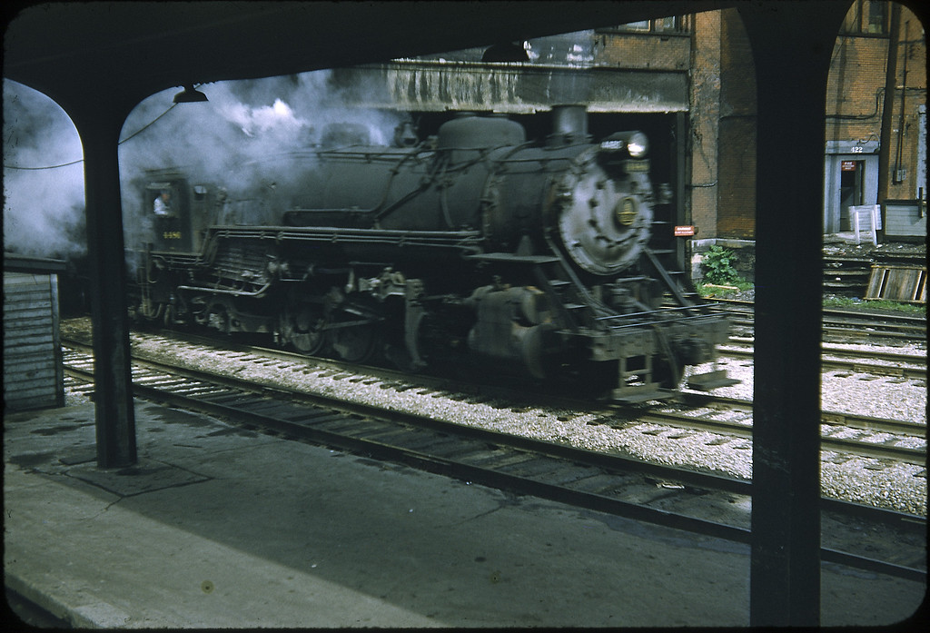 1955 photo<br /> Baltimore & Ohio Railroad<br /> 2-8-2