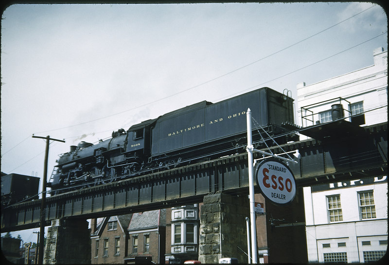 1953 photo<br /> Baltimore & Ohio Railroad<br /> #5048 Class P-1D<br /> Built by Baldwin Locomotive Works in 1912