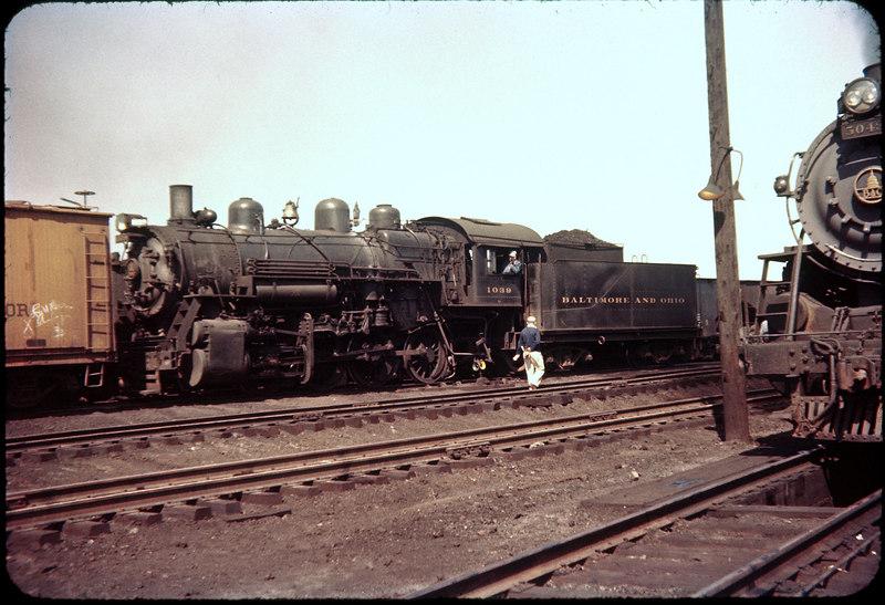 1956 photo<br /> Baltimore & Ohio Railroad<br /> 0-8-0 Class L-10