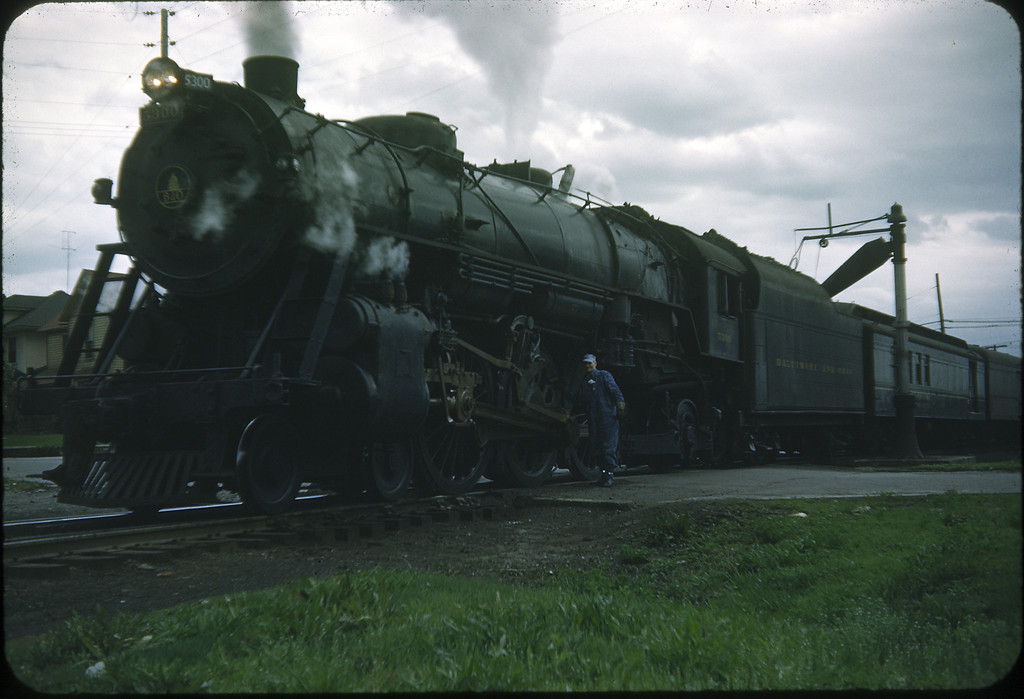 1954 photo<br /> Baltimore & Ohio Railroad<br /> Washington Courthouse, OH<br /> #5300 Class P7<br /> Built by Baldwin Locomotive Works in 1927