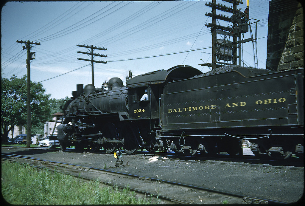 1953 photo<br /> Baltimore & Ohio Railroad<br /> Class B-18D #2034 Built 1901