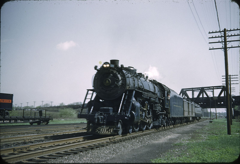 1955 photo<br /> Baltimore & Ohio Railroad<br /> Class P-7 4-6-2 Last week for train