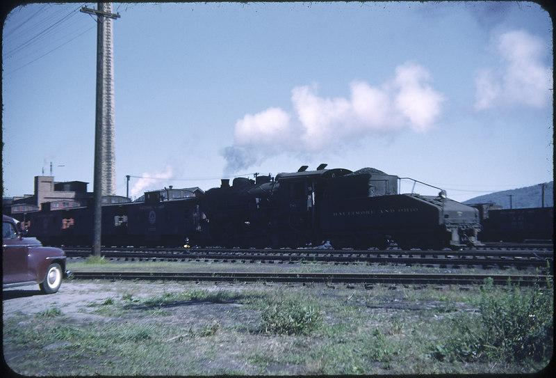 1952 photo<br /> Baltimore & Ohio Railroad<br /> E. Salmanka NY<br /> #775 Class L-4<br /> Built by Alco in 1918