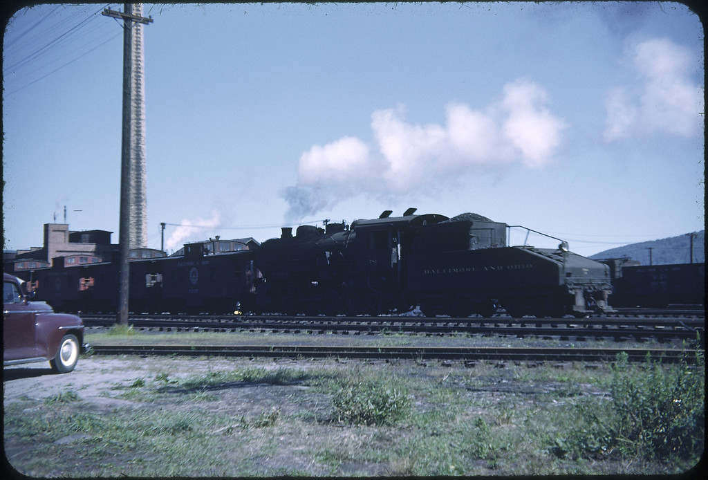 1952 photo<br /> Baltimore & Ohio Railroad<br /> E. Salmanka NY<br /> #775 Class L-4<br /> Built by Alco in 1918