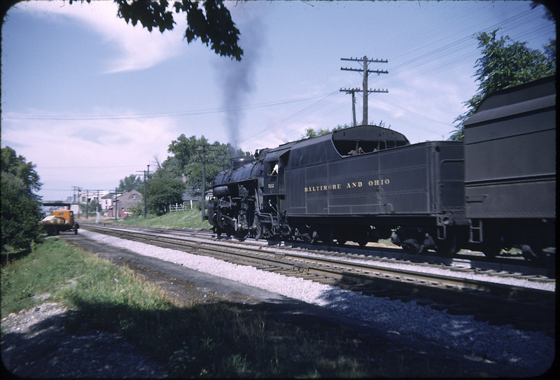 1952 photo<br /> Baltimore & Ohio Railroad<br /> Sidney, OH<br /> #5227 Class P5A<br /> Built by Baldwin Locomotive Works in 1919